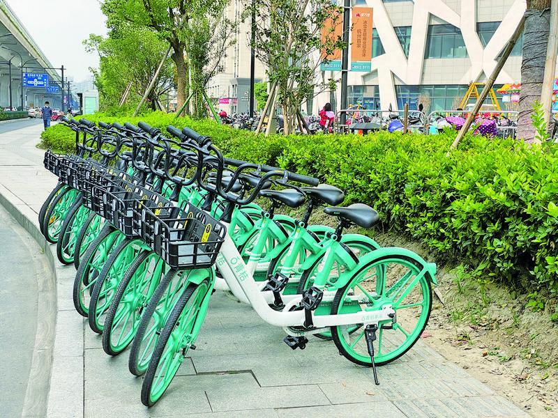 城管部门开展共享单车专项整治